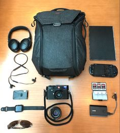 Travel EDC  submitted by Jerry Lunardy  Peak Design Everyday Bagpack 20L  Bose QuietComfort 35 Bluetooth Wireless Noise Cancelling Headphones - Black & Car Charger - Bundle  BeatsX Wireless In-Ear Headphones - Black  The Ridge Wallet  Apple Watch Sport 42mm Space Gray Aluminum Case with Black Sport Band  Oakley Men's Tailpin OO4086-05 Aviator Sunglasses Carbon/Grey Polarized Lens 61 mm  Leica M240 with 35mm Sumicron Lense  Carl Zeiss C Sonnar T 50mm f/1.5 ZM Lens (Black)  Lenovo Yoga Book…