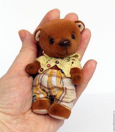 Мини мишка (11 см). Ярмарка Мастеров - ручная работа, handmade Handmade Ideas, Teddy Bears, Toys, Creative, Animals, Activity Toys, Animales, Animaux, Clearance Toys