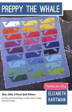 Preppy the Whale Quilt PatternElizabeth Hartman #EH-014   Fat Quarter Shop