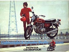 Honda CB-350 Four, my babes had one of these!