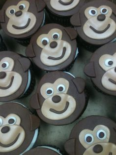 Monkey Cupkakes Monkeys, How To Make Cake, No Bake Cake, Projects To Try, Animal, Baking, Desserts, Food, Cooking