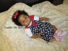 Lifelike Ethnic/ AA Reborn Baby Girl Thandie by Adrie Stoete Newborn Baby Dolls, Reborn Baby Girl, Baby Girl Dolls, Reborn Babies, Reborn Dolls For Sale, Real Life Baby Dolls, Fake Baby, Lol Dolls, Pretty Baby
