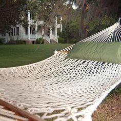 Presidential Size Polyester Rope Hammock (Rope Hammocks), White #15OP, Patio Furniture