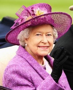 Purple Net Hat - HRH Queen Elizabeth II arrives at the Second Day of Royal Ascot on June, wearing a hat in her favorite purple. Sarah Ferguson, Fascinator, Die Queen, Royal Ascot Hats, Queen Hat, Royal Uk, British Royal Families, Isabel Ii, Her Majesty The Queen