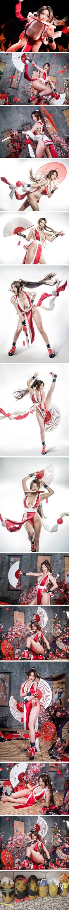 Korean cosplayer Pion Kim nails the look of Mai Shiranui PERFECTLY