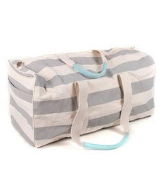 This Rugby Stripe Duffle Bag is perfect! #zulilyfinds