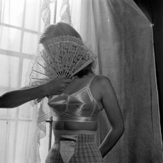 lingerie photo by Nina Leen, satin bullet bra and girdle Lingerie Vintage, Vintage Girdle, Buy Lingerie, Vintage Underwear, Vintage Glamour, Ropa Interior Vintage, Moda Retro, Estilo Pin Up, Bullet Bra