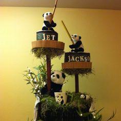 Top of panda cake