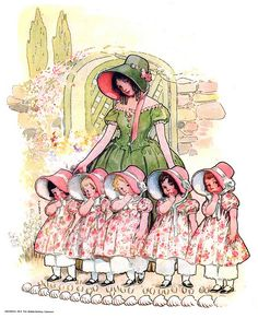"""Pretty Maids All In A Row"" - illustrated by Fanny Y. Cory by docarelle, via Flickr"