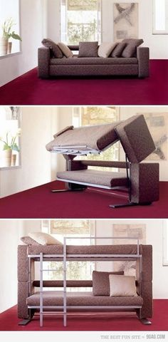 .I want this for the older girls room!! Cuz when Bree isn't here Caleigh can use it like a day bed and when she is here or Mia or a friend wants to sleep in there it can be a bunk bed!! Near idea!!