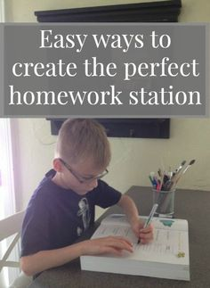 Organizing Children's Homework Stations