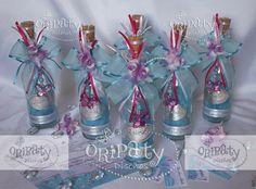 Invitaciones en botella para 15 Años con temática Primaveral Elegante