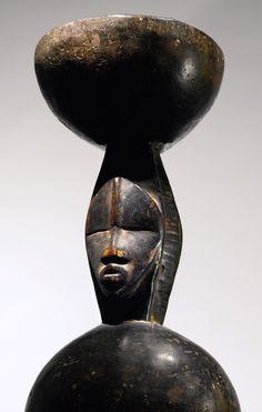 Africa   Ritual stool from the Dan people of Liberia   Wood   ca. 1925 - 1960
