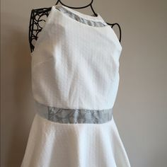 little white dress  Classy and beautiful white dress! New with tags The Mint Julep  Dresses