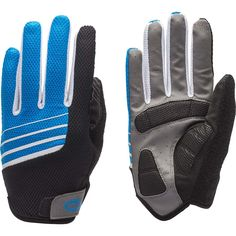 Bell Sports 7076501 Ramble 550 Full-Finger Cycling Gloves Small/Medium Blue White