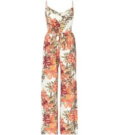 White Strappy Tropical Print Jumpsuit. I cant wait to wera this for my cousins wedding! Excited!!! Love Foxy xo