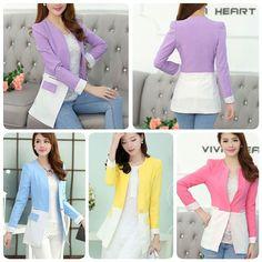 42082 blue / purple / pink / yellow  IDR 167,000   Material cotton cloth  Length M67 L69 XL71  Bust M82 L84 XL86  Shoulder M29 L31 XL33  Waist M76 L78 XL80  Sleeve M56 L58 XL58  Weight 0.39kg     #pakaianformal #pakaianresmi #pakaianwanita #bajuresmi #bajuformal #bajufashion #cardigan #cardiganmurah #bajuimport #highquality #bajubrandedimport #bajumurahberkualitas #fashionimpor #jualanbajubranded #jualbajukerja #bajukerja