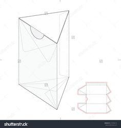 Triangular Retail Box With Die Line Layout Stock Vector Illustration 312700214 : Shutterstock