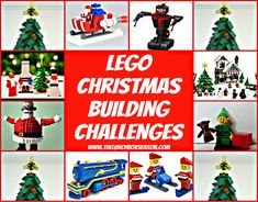 Lego Christmas Building Challenges ; All sorts of Christmas Themed Challenges or Ideas for your kids to build over Advent and the Christmas Holidays. Make it into a family game night! have a lego christmas building challenge party!