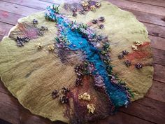 Hand felted play story may pretend play wool silk by wildwoollies