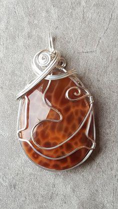 The Fire Agate Pendant Pendant Jewelry, Agate, Pendants, Fire, Artist, Unique, Design, Hang Tags, Artists