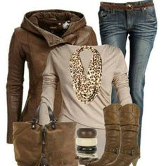 Love this brown outfit