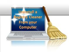 How to uninstall a registry cleaner from your computer?
