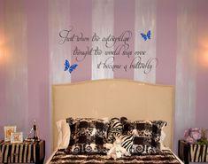Caterpillar Butterfly | Wall Decals - Trading Phrases wall decals by www.tradingphrases.com