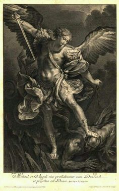 """St. Michael the Archangel, defend us in battle. Be our defense against the wickedness and snares of the Devil. May God rebuke him, we humbly pray, and do thou, O Prince of the heavenly hosts, by the power of God, thrust into hell Satan, and all the evil spirits, who prowl about the world  seeking the ruin of souls. Amen."""