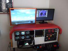 DIY Flight Simulator Cockpit #kids #woodworking #video_game