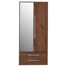 New Hallingford 4 Dr 3 Drw Mirrored Wardrobe Wenge Effect