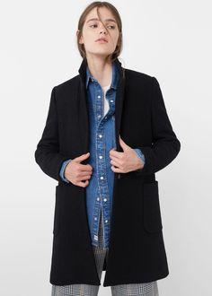 Manteau laine poches | MANGO taille M