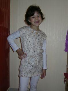 tunique pull au tricotin geant