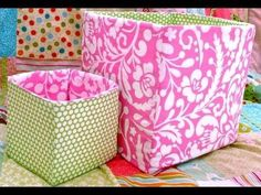 Easy to understand tutorial about making storage cubes. In this tutorial they hand sew the final piece in place.