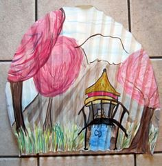 Japanese Fan Project: Multicultural Art and Craft Lessons for Kids: KinderArt ®