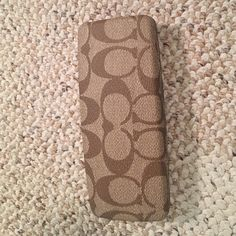 Authentic Coach reading glasses case. Holds smaller reading glasses. Coach Other