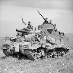 Priest 105mm self-propelled gun of 11th Royal Horse Artillery (Honourable Artillery Company), 1st Armoured Division. Tunisia  22 April 1943.