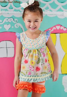 Happy and Free, Spring Floral Sorbet Shabby Top and Licorice Laces Shorties Toddler Fashion, Kids Fashion, Girls Dream Closet, Baby Lovies, Matilda Jane, My Girl, Little Girls, Spring 2016, Summer Dresses