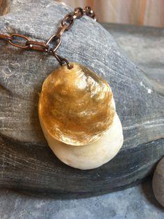 boho gypsy beachy seashell necklace, beach wedding jewelry, seashell jewelry, beachy jewelry on Etsy, $25.00