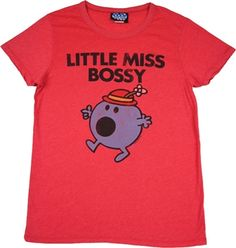 Little Miss Bossy t-shirt tee shirt by Junk Food Junk Food Tees, Cool T Shirts, Tee Shirts, Mr Men Little Miss, Cartoon Outfits, Tshirts Online, Cool Kids, Old School, Vintage Inspired