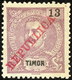 Timor 1911 Scott 114 red lilac Stamps of Overprinted in Carmine or Green Dutch East Indies, Coast Australia, Archipelago, Postage Stamps, Colonial, Lilac, History, Green, Stamps