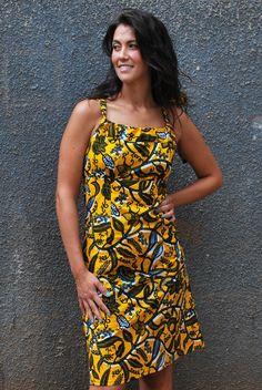 #AfricanPrint - Angelique Bow Dress (Knee Length). Uganda