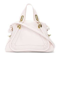Nude pink and perfect for spring / summer. Chloe Calfskin Paraty Shoulder Bag