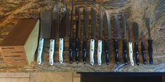 Cutco Knife Set 14 Knives With Gourmet Block And Two NEW Cutting Boards #Cutco