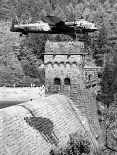 An poster sized print, approx (other products available) - Lancaster over Derwent Dam Ladybower reservoir for the RAF anniversary in 1988 - Dambusters - Image supplied by The Northcliffe Collection - poster sized print mm) made in Australia Ww2 Aircraft, Military Aircraft, Lancaster Bomber, Battle Of Britain, Royal Air Force, Military History, World War Two, Wwii, Poster