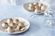 Koule Egg nog Garlic, Stuffed Mushrooms, Food And Drink, Eggs, Cookies, Egg Nog, Vegetables, Breakfast, Christmas