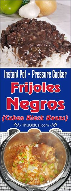 This authentic Pressure Cooker Cuban Black Beans {Frijoles Negros} recipe, is made with smoked ham hock, sofrito and traditional seasonings. via @thisoldgalcooks