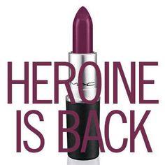 M.A.C. Cosmetics Brings Back Their Lipstick Shade Heroine - M.A.C. Cosmetics Heroine Lipstick - Harper's BAZAAR Magazine