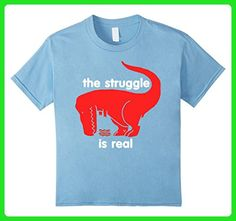 Kids T Rex The Struggle Is Real Bacon T Shirt Funny T Rex T Shirt 6 Baby Blue - Funny shirts (*Amazon Partner-Link)