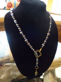 Lariat Mother of Pearl Necklace by ElliTs on Etsy
